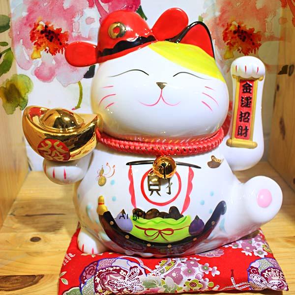 Mèo thần tài vẫy tay lộc tiến vinh hoa