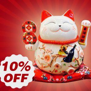 Rước Lộc Đầu Năm – Khuyến Mại Mèo Thần Tài 10%