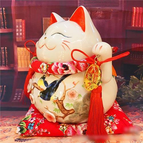 Mèo thần tài vinh hoa phú quý
