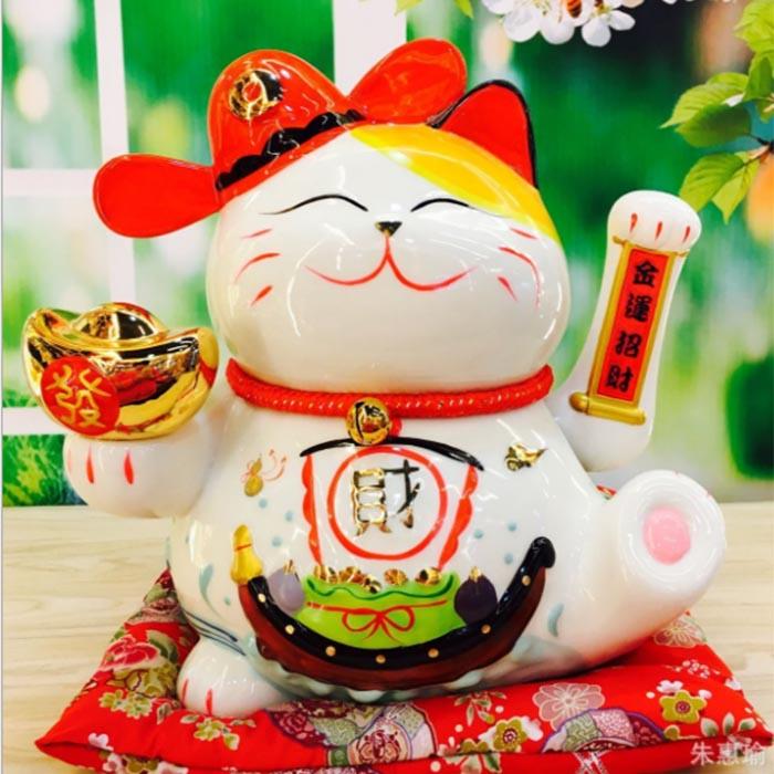 Mèo vẫy tay-Lộc Tiến Vinh Hoa 9003-24cm