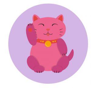 minh họa của một neko mamki màu hồng