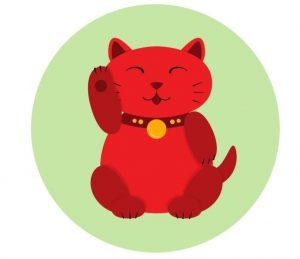 minh họa của một neko mamki đỏ