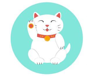 minh họa của một neko mamki trắng