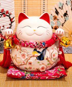 mèo thần tài vinh hoa phú quý chuông vàng