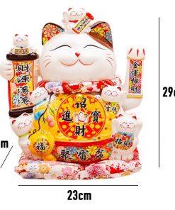 Mèo vẫy tay Lộc tài lợi tiến 0845 - 29cm