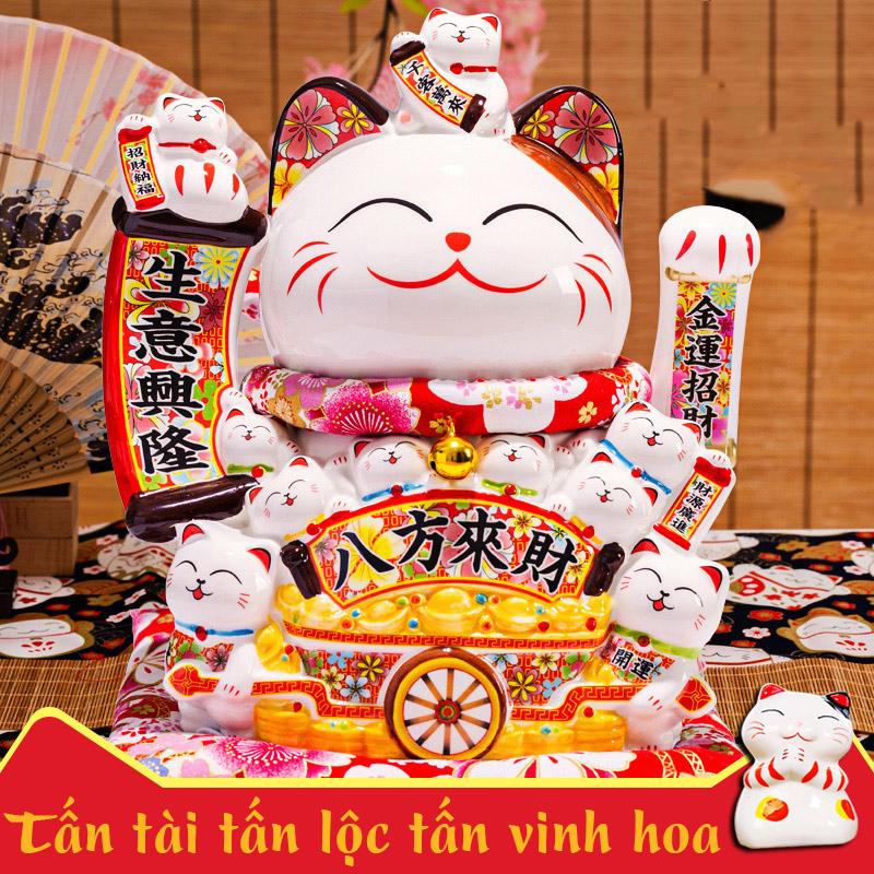 Mèo vẫy tay Tấn Tài Tấn Lộc Tấn Vinh Hoa